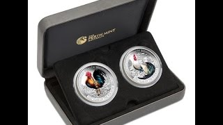 Lunar Good Fortune Series – Wealth and Wisdom 2017 1oz Silver Proof Two-Coin Set