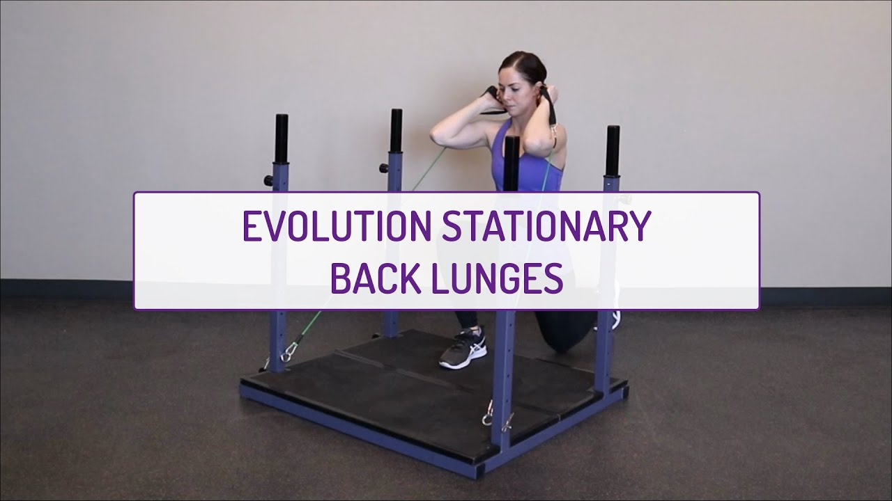 Home Exercises | Evolution Stationary Back Lunges | Strength | Legs