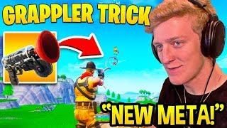TFUE SHOWS *GENIUS* GRAPPLER EXPLOIT! (ACROSS MAP IN SECONDS!) - Fortnite FUNNY Moments
