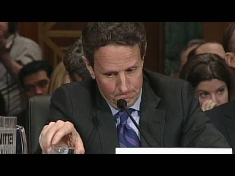 Tim Geithner in the hot seat