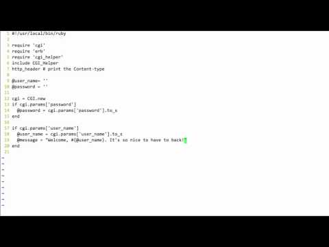 Ruby with CGI, ERB and HTML Forms