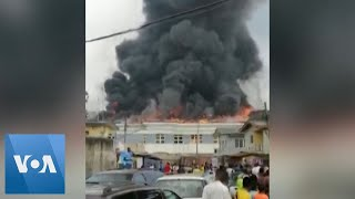 TV Station Set on Fire in Lagos as Nigeria Protests Continue