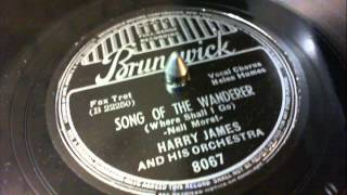 78 RPM: Harry James & his Orchestra - Song Of The Wanderer
