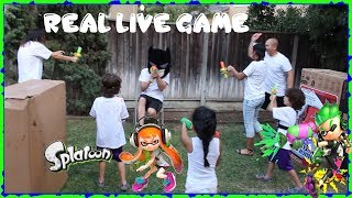 Nintendo Splatoon 2 Splattershot Blaster Ink Toy Game Play and Review by the Twins and ARCHIEZZLE