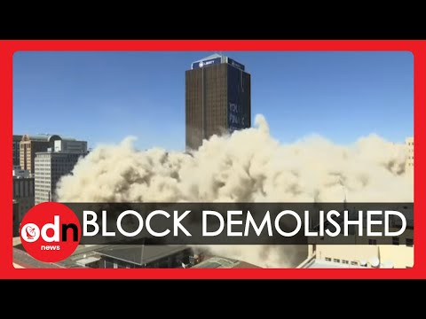 Building Implosion: Huge 108 Metre Tower Block Demolished in Johannesburg
