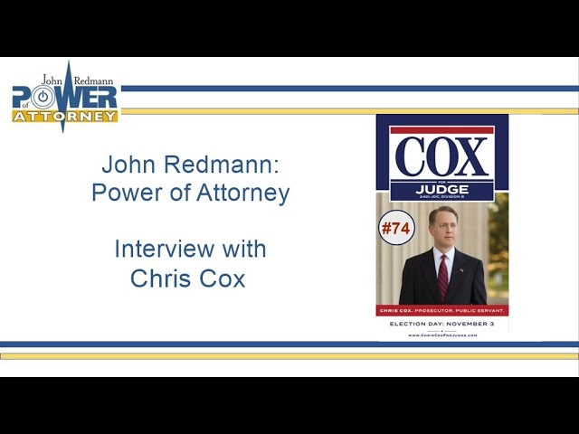 John Redmann: Power of Attorney- Interview with Chris Cox