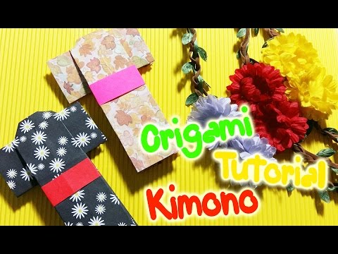 DIY How To Make Kimono from Origami Paper Origami Tutorial | OKAY DIY