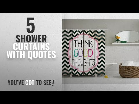 Top 10 Shower Curtains With Quotes [2018]: Inspirational Quote Chevron Shower Curtain by Ambesonne,