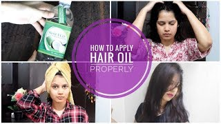 How To Apply Hair Oil Properly  बालों को Oil करने का सही तरीका ft. Merit VCO COCONUT virgin oil