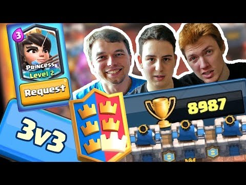 Clash Royale 3v3 APRIL CR Update Gameplay - Clash Royale SK/CZ | Clash Royale 3 vs 3 Gameplay