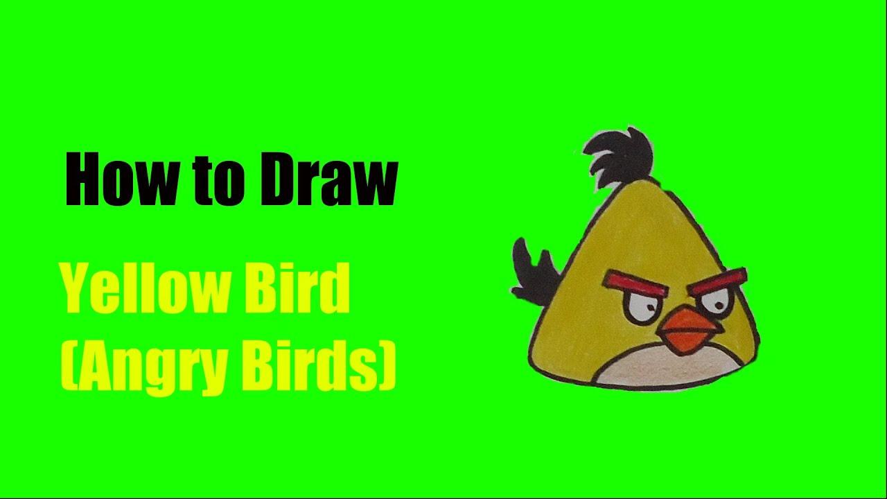 Como Desenhar O Pássaro Amarelo De Angry Birds Personagem: How To Draw Yellow Bird