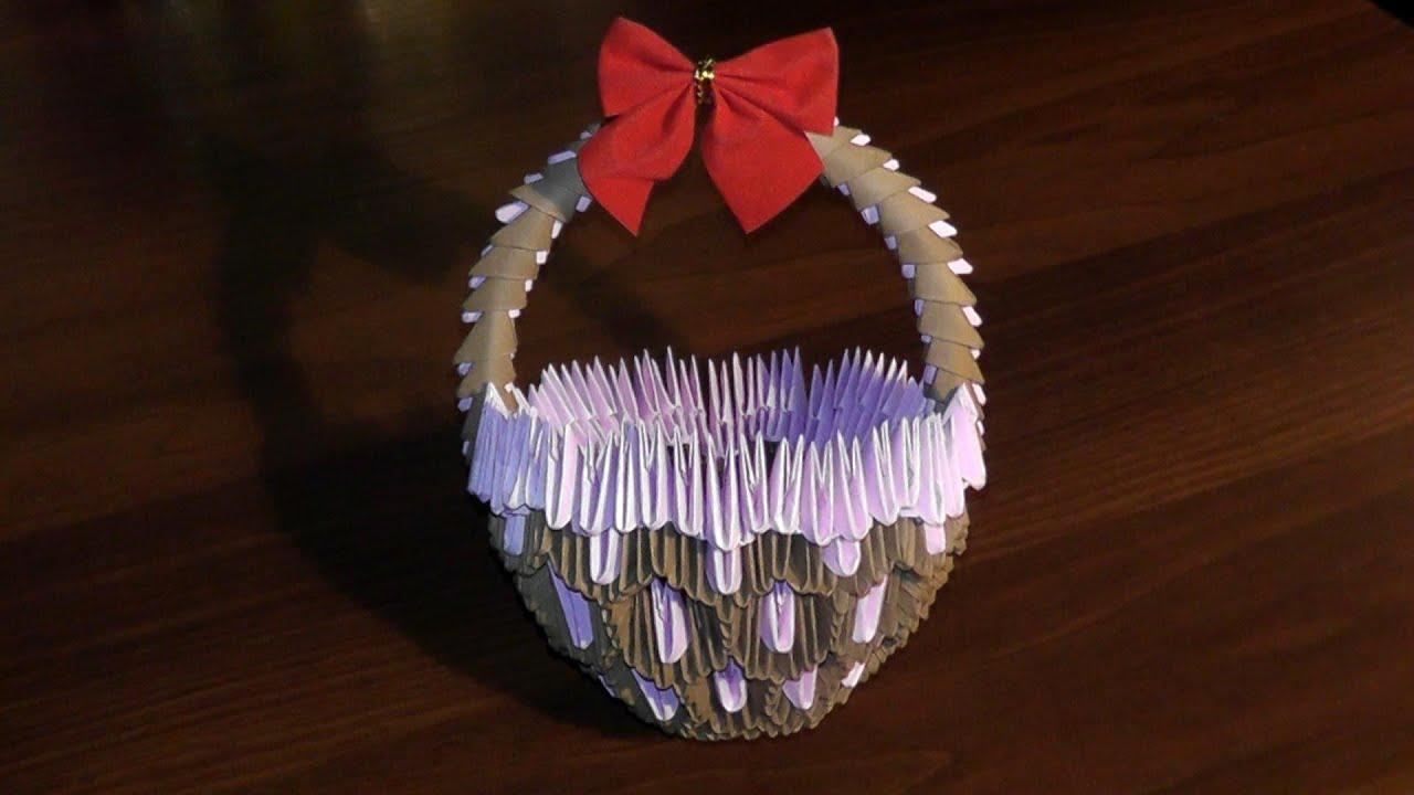 схема оригами клубника смодульное маленькая