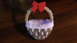 модульное оригами корзинка мастер класс