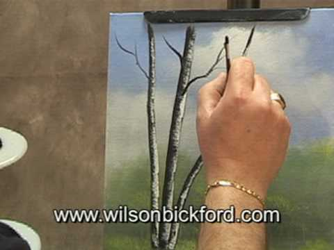 Oil Painting Lesson - Wilson Bickford - Birch Trees - YouTube