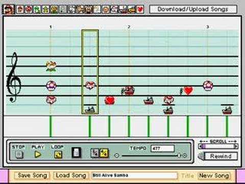 Portal Radio Song in Mario Paint Composer