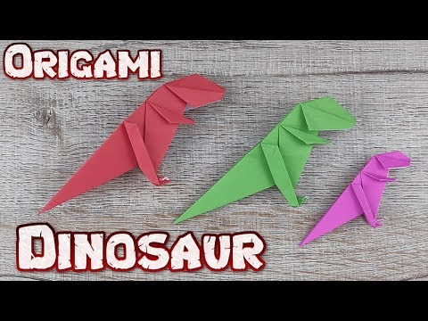 Origami 3D Dinosaur Paper | How To Making An Easy T-Rex Tutorial | DIY Paper Animal Craft Idea