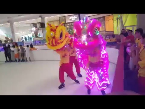 Lion Dance on Ice at The Rink, JCube