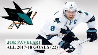 Joe Pavelski (#8) All 22 Goals of the 2017-18 NHL Season