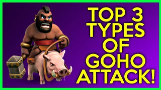 TH9: TOP 3 TYPES OF GOHO WAR ATTACK STRATEGY | CLASH OF CLANS