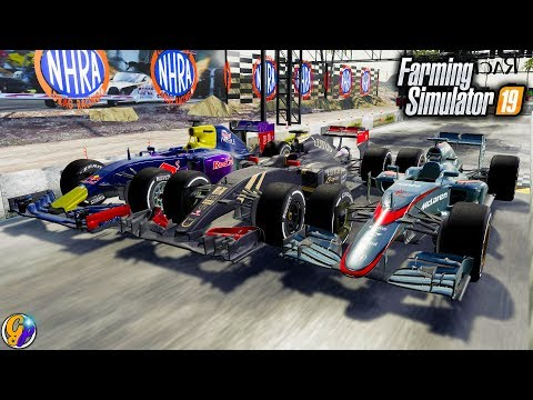 FS19- INSANE FORMULA ONE RACE CAR $10,500,000 F1 RACECAR FARMING SIMULATOR 19