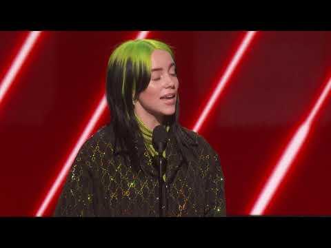 Billie Eilish Wins Best New Artist  2020 GRAMMYs Acceptance Speech