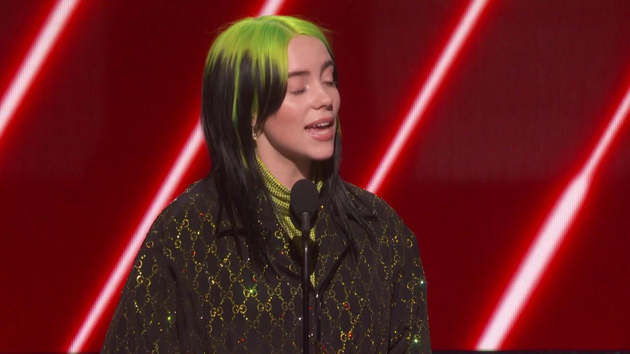 billie eilish wins best new artist 2020 grammys acceptance speech youtube billie eilish wins best new artist 2020 grammys acceptance speech