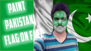 How to Paint Pakistani Flag on Face in Photoshop Urdu / Hindi