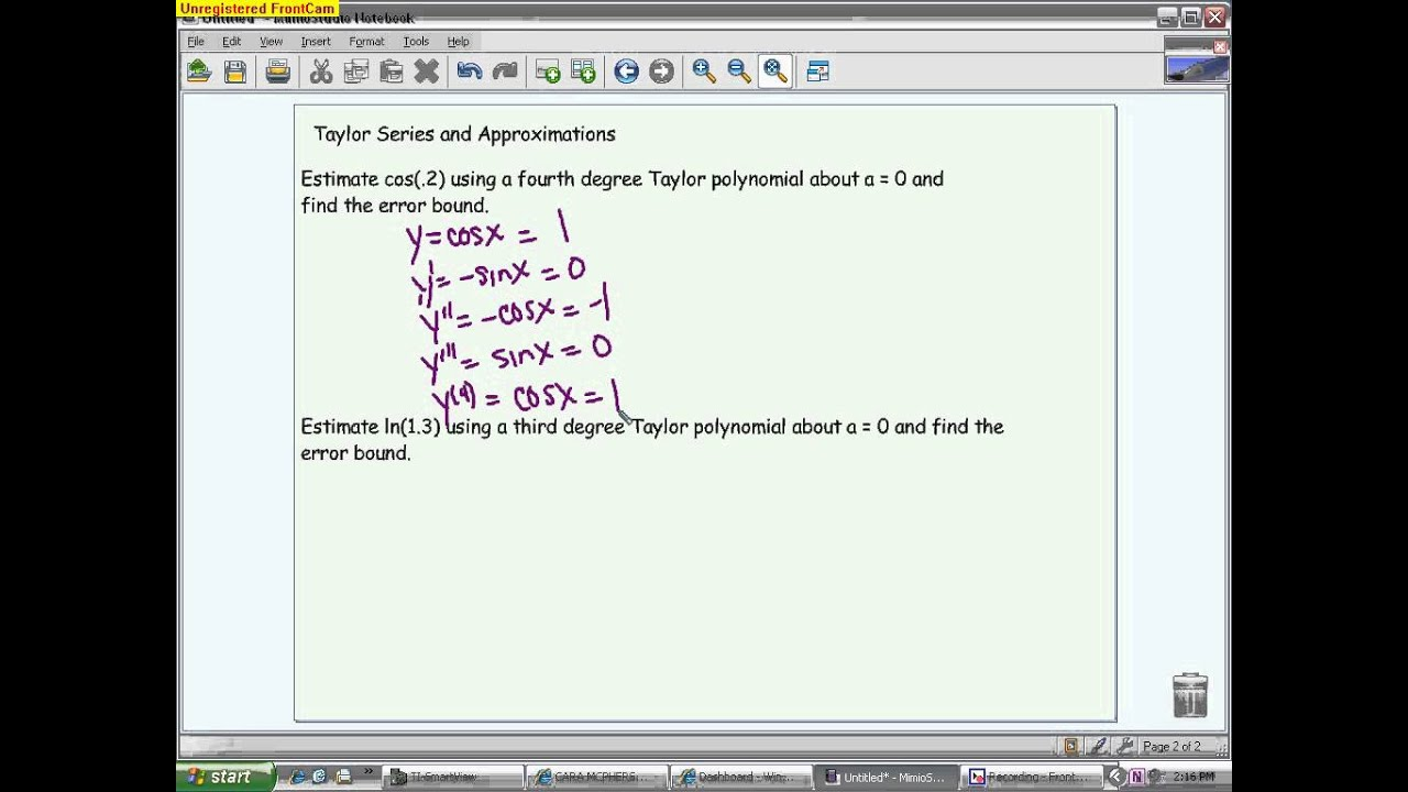 Power Series and Taylor Series Review