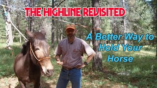 A better way to hold your horse. How to set up a highline for horse camping