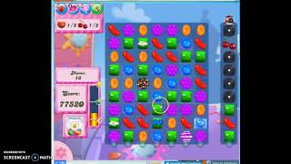 Candy Crush Level 383 Audio Talkthrough, 1 Star 0 Boosters