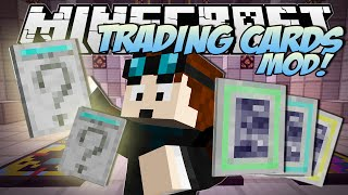 Minecraft | TRADING CARDS MOD! (Booster Packs, Rare Cards & TDM Cards!!) | Mod Showcase