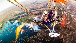 MICROLIGHT OVER VIC FALLS!