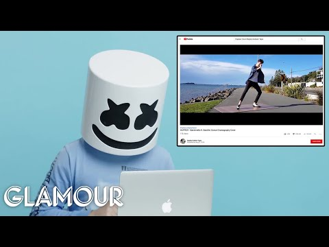 Marshmello Watches Fan Covers On   Glamour