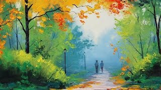 Most Beautiful Nature Paintings   Painting lessons - How to paint trees and bushes in oil painting