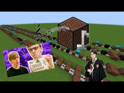 Minecraft: Harry Potter in 99 seconds with Note Blocks