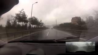 Fast Road Driving in Rain - Day