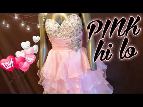 dress-no.83-|-night-moves-pink-hi-lo-strapless-ruffle-prom-dress-|-اروع-فستان-سهره-زهر-قصير-سترابلس