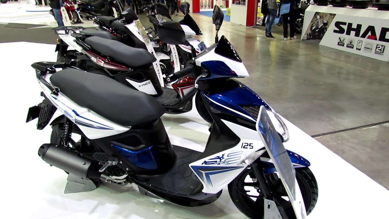 2014 Kymco Super 8 125 Scooter Walkaround - 2013 EICMA Milano ...