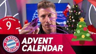 Drawing w/ Robert Lewandowski | FC Bayern Xmas Advent Calendar #9