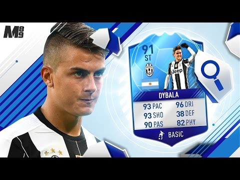 FIFA 17 TOTT DYBALA REVIEW | TOTKS 91 DYBALA | FIFA 17 ULTIMATE TEAM PLAYER REVIEW