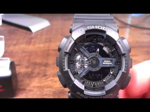 79c566047 GA110-1B Stealth Black Casio G-Shock Watch Review - Analog DIgital Big Combi  XL - YouTube