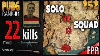 PUBG Rank 1 - ibiza 22 kills [EU] Solo vs Squad FPP - PLAYERUNKNOWN'S BATTLEGROUNDS #252
