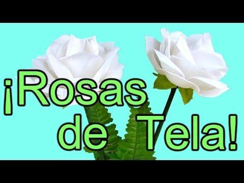 Tutorial rosas de tela r pido y f cil con los moldes - Flores de telas hechas a mano ...