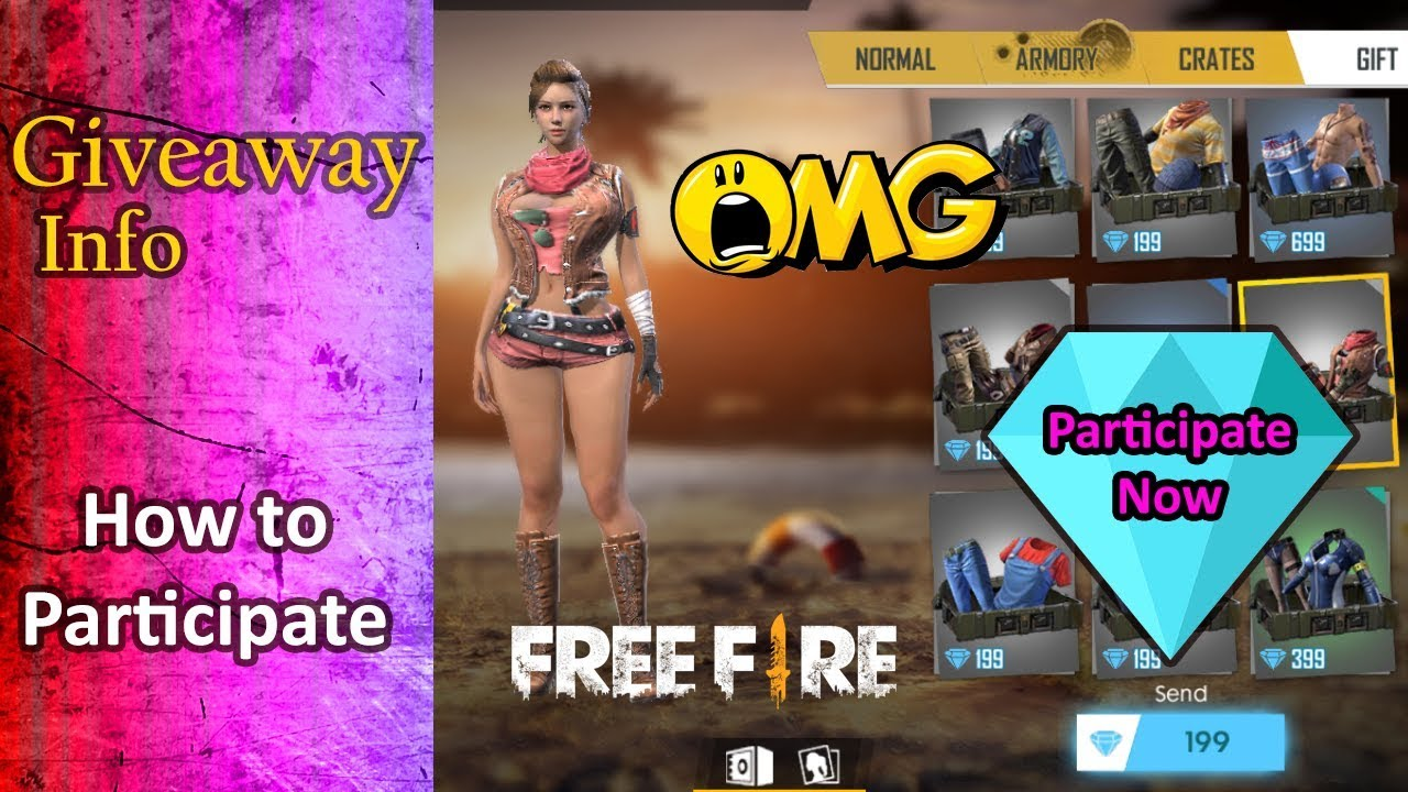 ❤ Garena Free Fire Free Diamonds Giveaway | Independence Day 2019 Special |  Free Fire India
