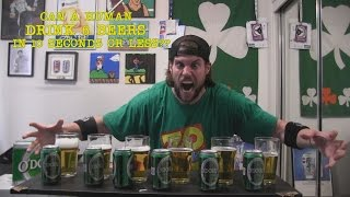 Can A Human Drink 6 Non-Alcoholic Beers In 10 Seconds or Less? (Unedited Version)
