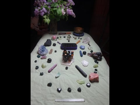 ASMR Crystal Grid and Essential Oil Project for Relaxation