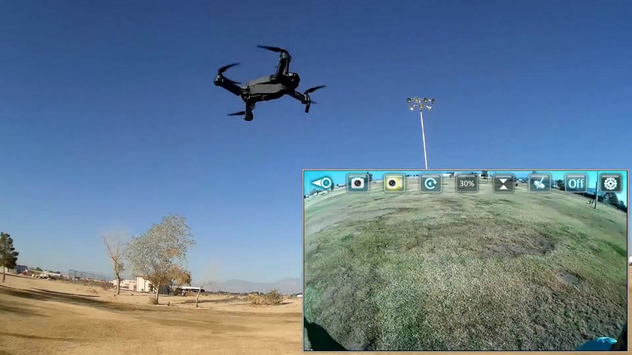 Eachine E58 720P Folding FPV Camera Drone Flight Test Review фото