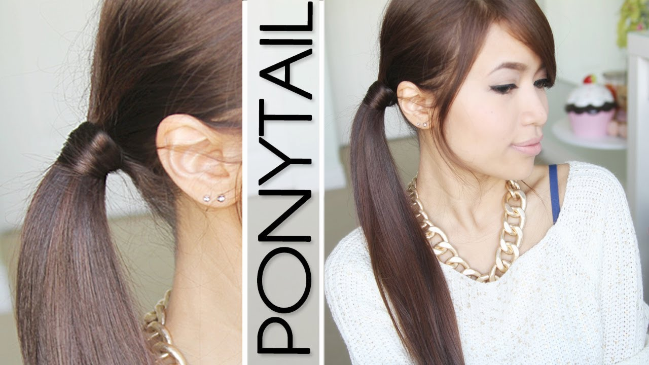 Hair Wrapped Ponytail No Bobby Pins Hairstyle Tutorial