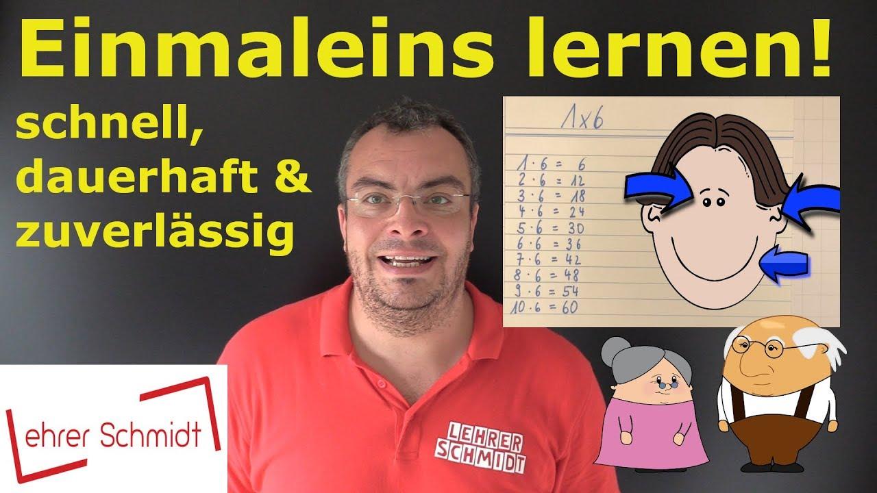 Einmaleins 1x1 Lernen Schnell Dauerhaft Zuverlässig Youtube