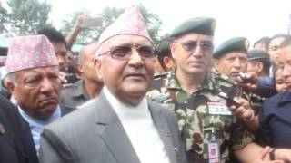 PM KP Oli @ Tribhuwan International Airport.